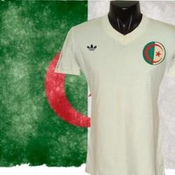Camisa retrô  Algeria  branca logo-1982