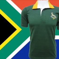 Camisa  retrô de rugby Africa do sul  1980