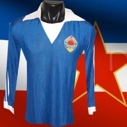 Camisa retrô   Yugoslavia azul  -1984