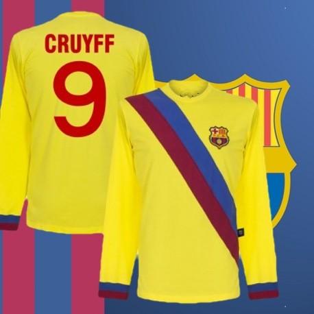 Camisa Retrô Barcelona  amarela  gola polo - ESP