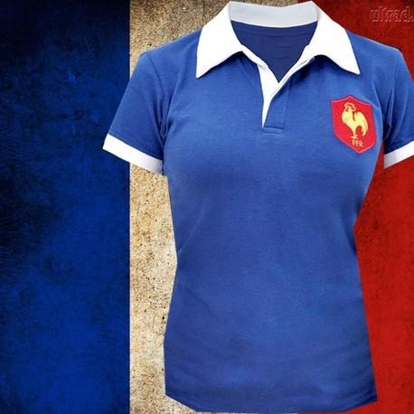 Camisa retrô França   branca -1980