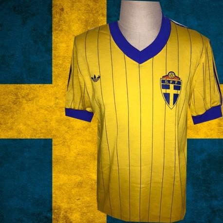 Camisa Retrô Sueçia listrada 1984  - SUE