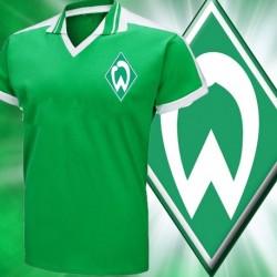 Camisa retrô Werder Breme gola polo verde