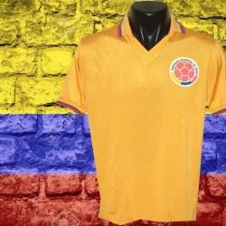 Camisa retrô da Colombia  laranja 1984