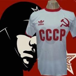 Camisa  retrô  CCCP branca foice.