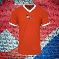Camisa retrô Coreia  do Norte  vermelha - 1966