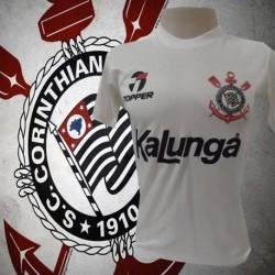 Camisa retrô Corinthians 1985-88 branca kalunga