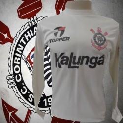 Camisa retrô Corinthians  branca kalunga ML1985-88 .