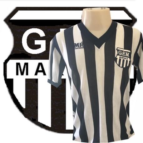 Camisa retrô  Grêmio Maringa  branca  banestado