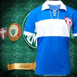 Camisa retrô Palmeiras  Cruz de savoia  azul 1914.