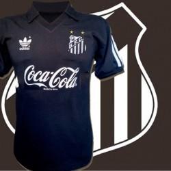 Camisa retrô  Santos preta 3 listras.