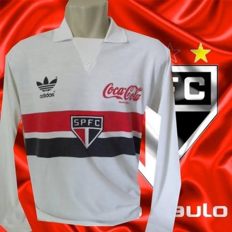c5d2449e7c Camisa retrô São paulo logo 1988 coca cola