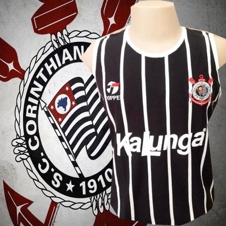 374e1d6328 Camisa retrô Corinthians gola redonda 1979 .
