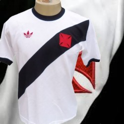 Camisa retrô Vasco branca - 1982 gola redonda