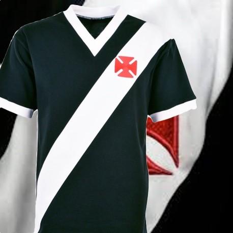 Camisa retrô Vasco da Gama Tradicional preta - 1970