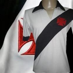 Camisa retrô Vasco branca- 1960