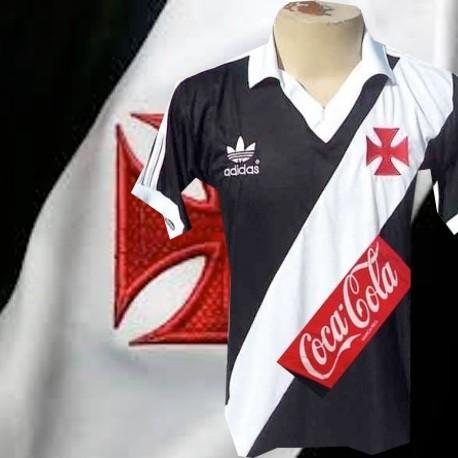 Camisa retrô Vasco logo - 1987 coca cola vermelha