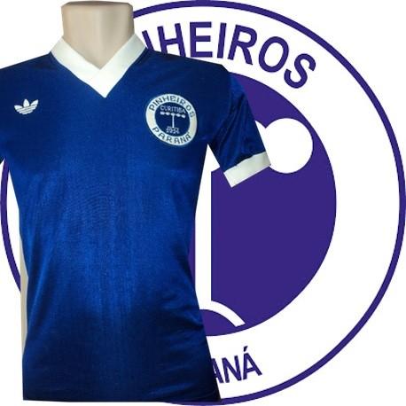 Camisa retrô Pinheiros logo azul