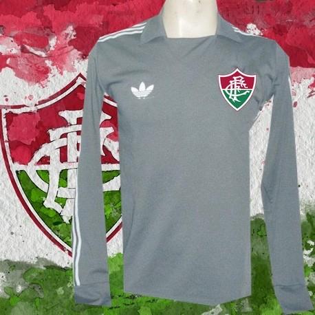 Camisa retrô Fluminense goleiro cinza - 1980 ff14d17b202fc