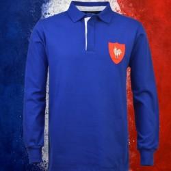 Camisa retrô França branca rugby ML- 1977