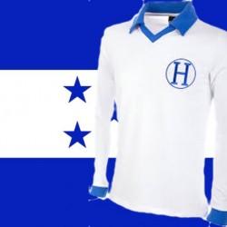 Camisa retrô Honduras branca ML - 1982