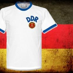 Camisa retrô Seleção da Alemanha DDR branca- 1980