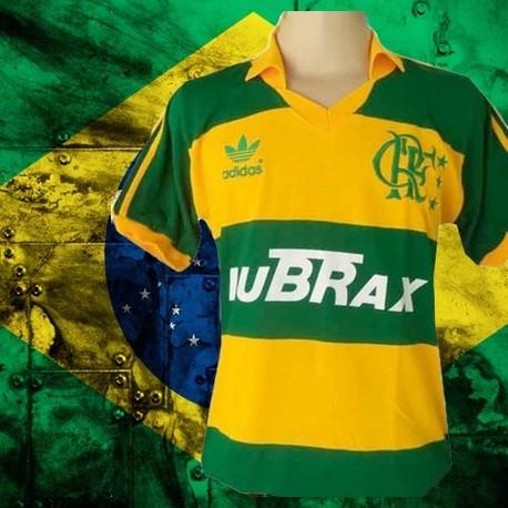 Camisa retrô Flamengo Lubrax tradicional