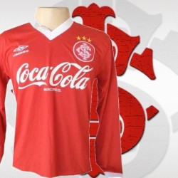 Camisa retrô Internacional ML- gola V - coca cola