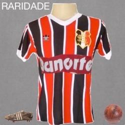 Camisa retrô Santa Cruz tricolor gola redonda