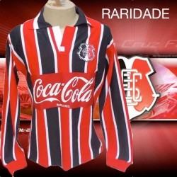 Camisa retrô Santa Cruz tricolor - 1995 manga longa