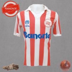 Camisa retrô Náutico listrada Banorte - 1980