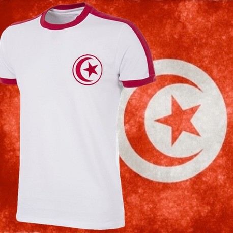 Camisa retrô da Tunisia branca ML - 1978