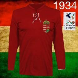 Camisa retrô Hungria vermelha Puskas