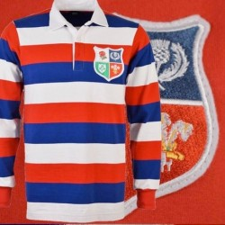 Camisa retrô de rugby British and Irish lions