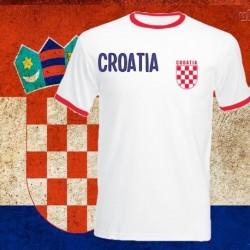 Camisa retrô Croacia vermelha