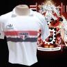 Camisa retrô São Paulo 1988 logo branca sem Coca Cola