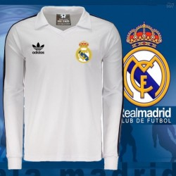 Camisa Retrô Real Madrid branca ML - ESP
