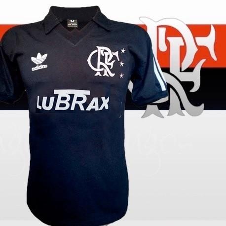 Camisa retrô Flamengo Lubrax preta
