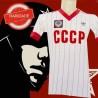 Camisa retrô CCCP branca listrada 1980