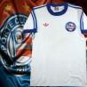 Camisa retrô Bahia branca gola redonda 1988.