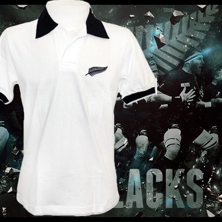 Camisa retrô All black tradicional branca gola redonda