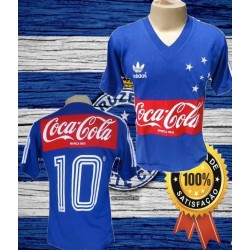 Camisa retrô Cruzeiro coca cola - 1987