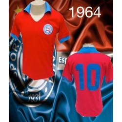 Camisa retrô Bahia vermelha - 1964