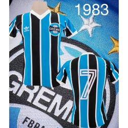 - Camisa retrô Grêmio logo listrada libertadores - 1983