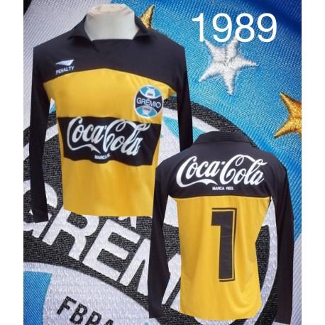 - Camisa retrô Grêmio ML coca preta - 1988