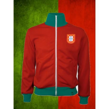 Camisa retrô Portugal 1972 gola polo