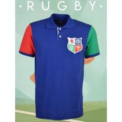 Camisa retrô de Rugby lions multicolor