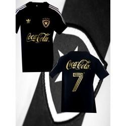 Camisa retrô Botafogo gola polo preta 1988.