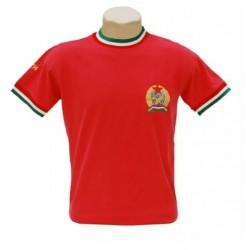 Camisa retrô Hungria vermelha -1972
