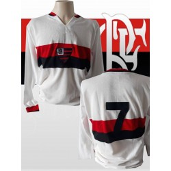 Camisa retrô Flamengo branca 1970